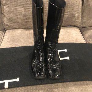 Prada Black Patent High boots-calf